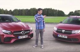 Dacia Logan MCV as David tries to take down Goliath Mercedes-AMG E63 S wagon