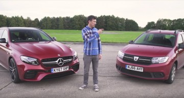 Dacia Logan MCV as David tries to take down Goliath Mercedes-AMG E63 S wagon