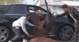 Filled with candy – The Mercedes prank that made the owner happy