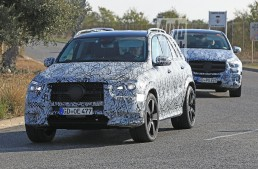 Big and bigger: New Mercedes GLE and GLS spied together