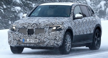Mercedes EQ C electric SUV spied