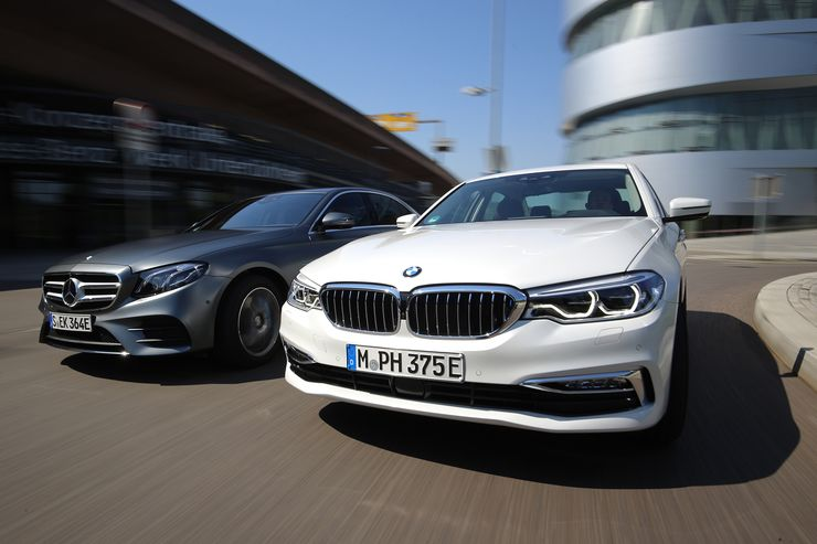 Hybrid sedans war: Mercedes E 350 e vs. BMW 530e iPerformance
