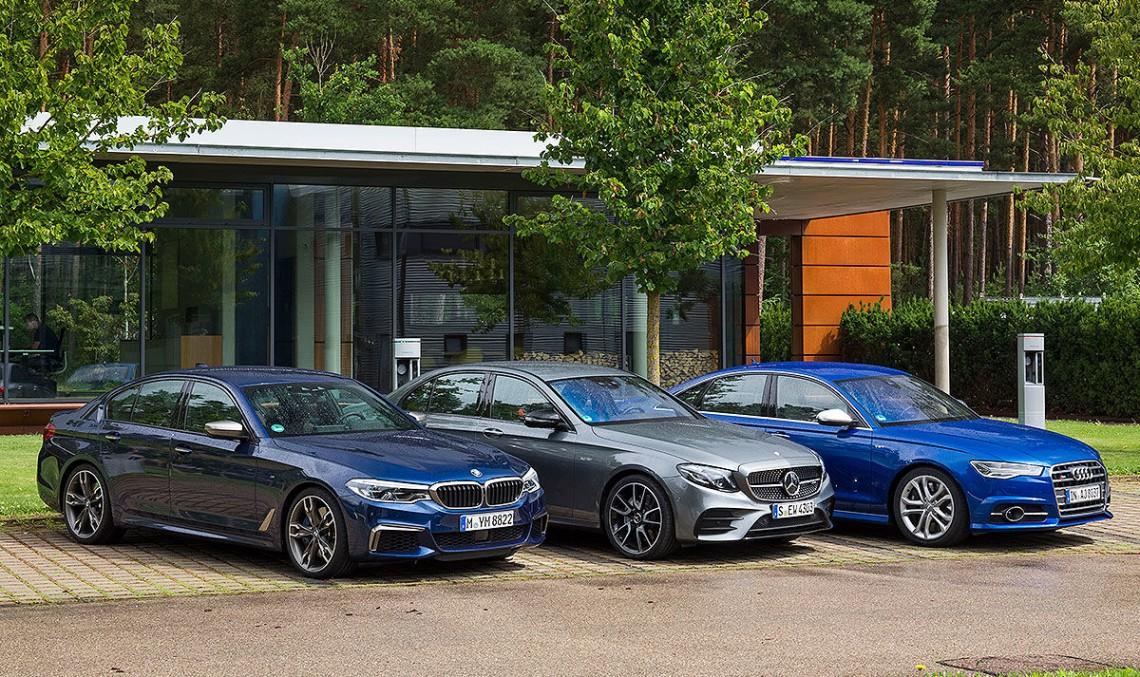 Thunder-limos: Mercedes-AMG E 43 vs. Audi S6, BMW M550i first comparison test
