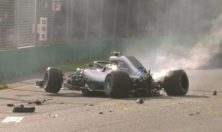 Lewis Hamilton on pole at the Australian Grand Prix, Bottas crashes badly