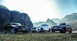 Comparative test drive BMW X3 xDrive 20d, Mercedes GLC 250d 4Matic, Volvo XC60 D5 AWD