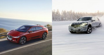 The new Jaguar I-Pace: the luxury middle size EV SUV to beat by the Mercedes EQC