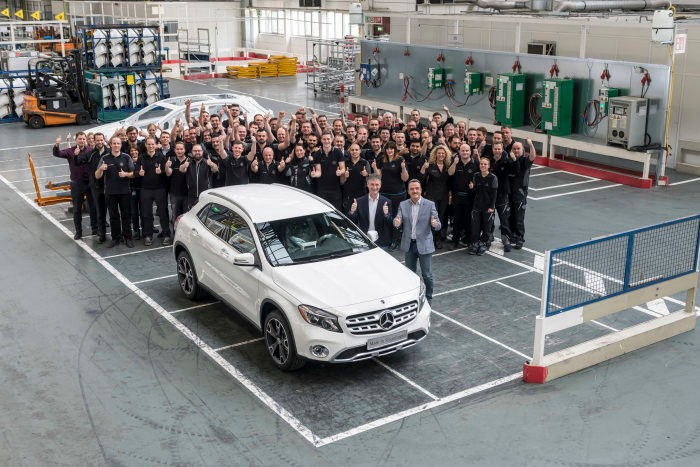 Production of the Mercedes-Benz GLA started in Sindelfingen