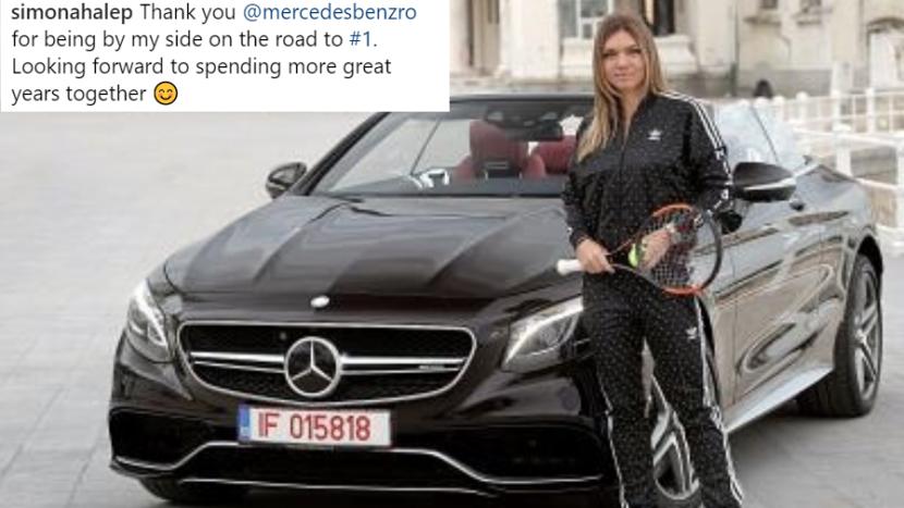 No. 1 WTA Simona Halep gets a 510-horsepower Mercedes-AMG C 63 S Cabriolet
