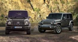 2019 Mercedes G-Class vs. Jeep Wrangler: Static comparison of the off-road professionals