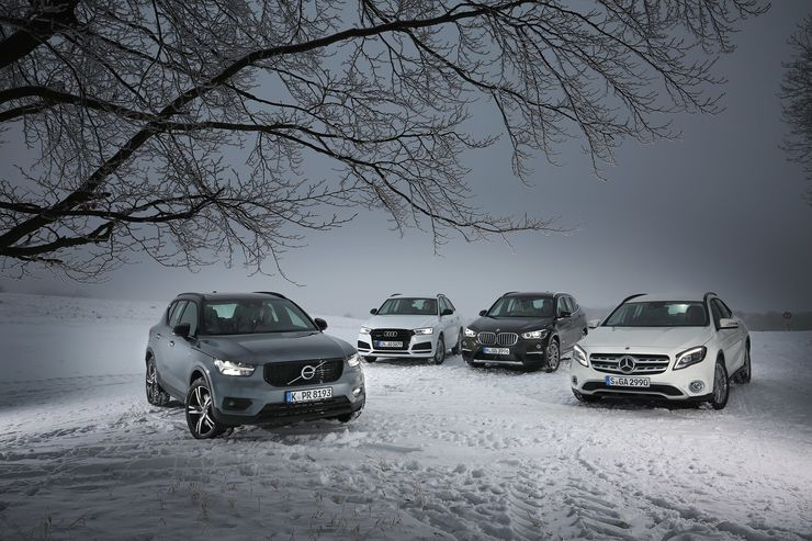 Comparison test Mercedes GLA vs Audi Q3, BMW X1, Volvo XC40