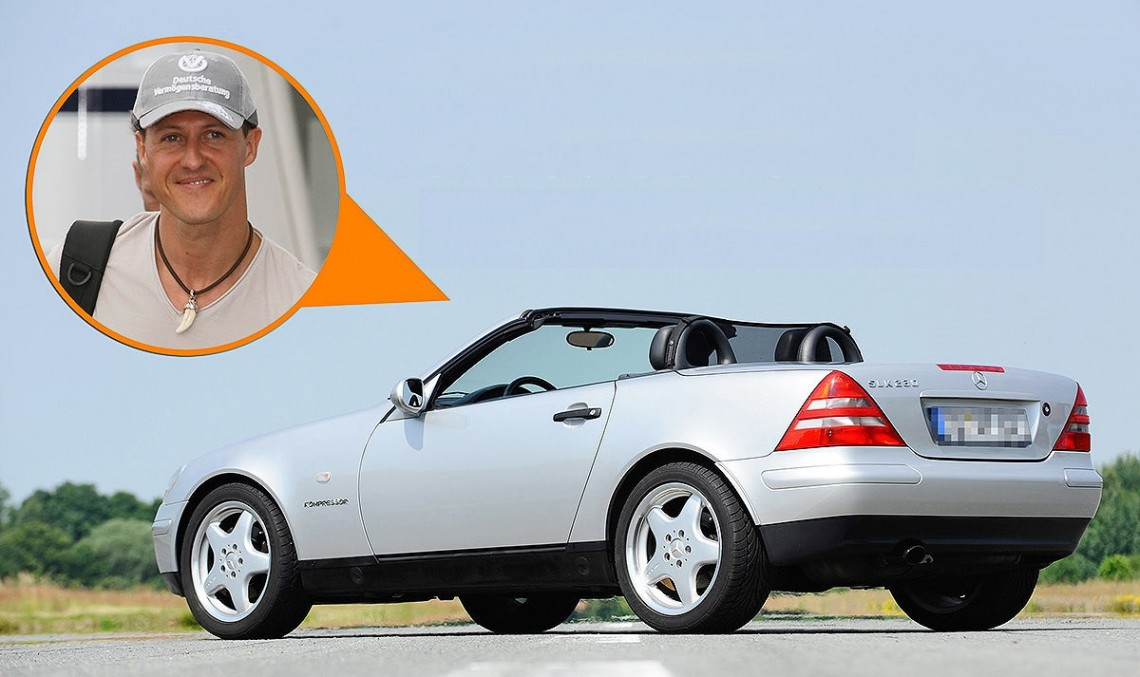 The Mercedes SLK of Michael Schumacher for sale. Find out how much it costs