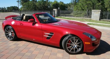 Used, but not so much – Mercedes SLS AMG Roadster goes under hammer
