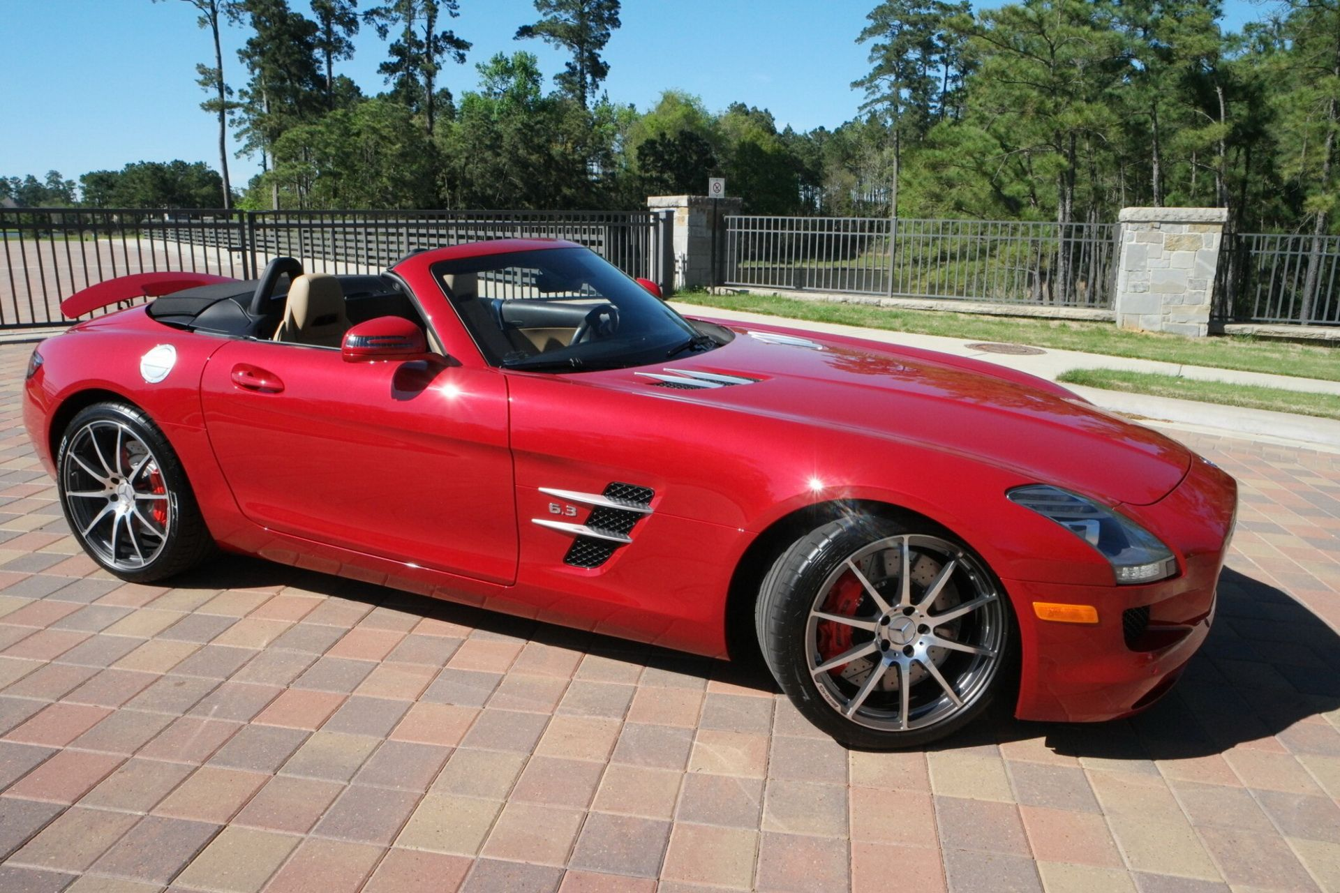 Used But Not So Much Mercedes Sls Amg Roadster Goes Under Hammer