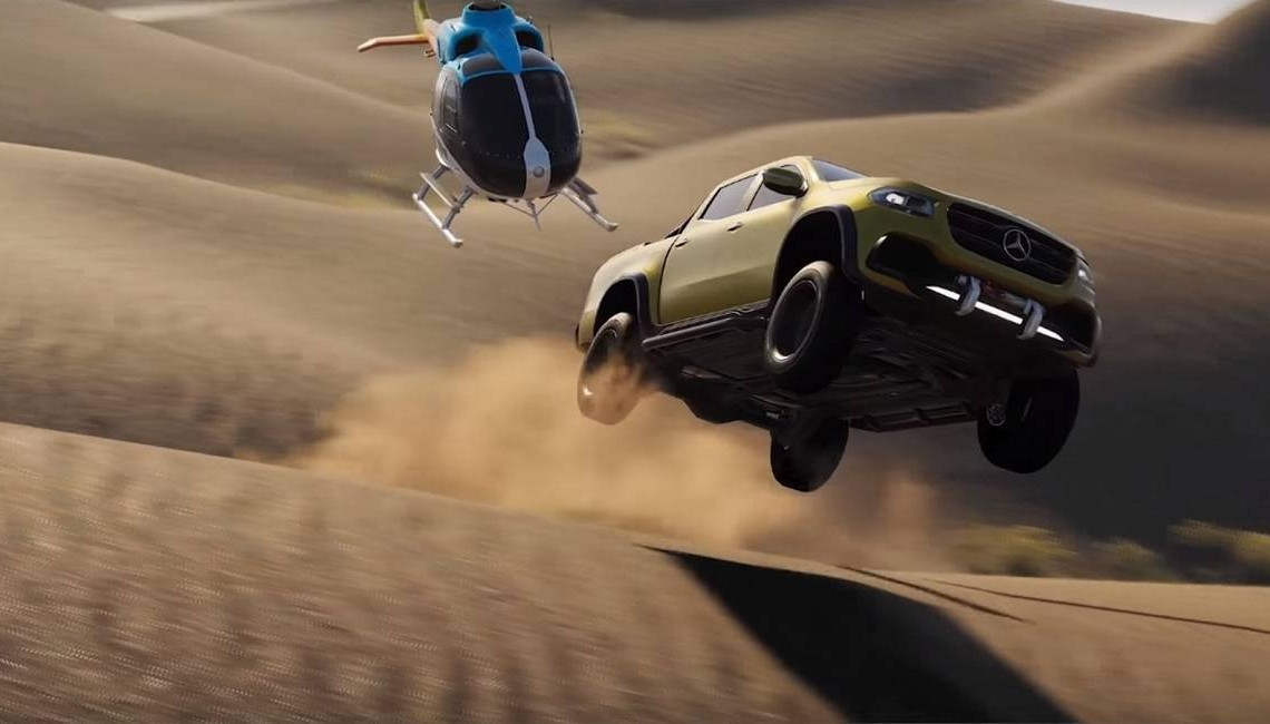 The Mercedes-Benz X-Class is the star of The Crew 2 video game