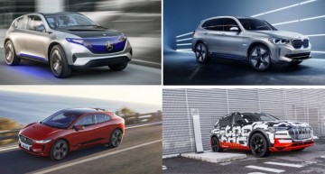 Electric SUV war: Mercedes EQ C vs. BMW iX3, Audi e-tron quattro, Jaguar i-Pace
