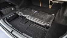 BMW 530 e compartment under the boot floor