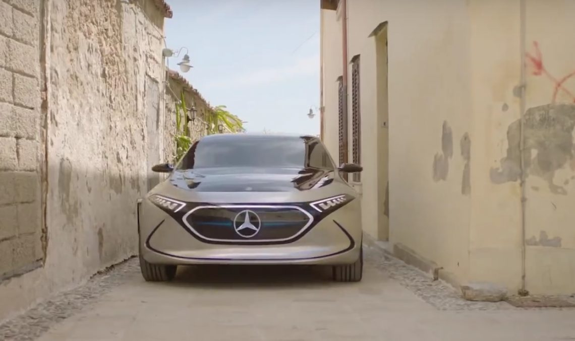 Mercedes-Benz Concept EQA on the road across Sicily