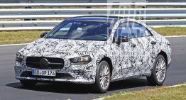 2019 Mercedes-Benz CLA: Mini-CLS caught again in new spy photos