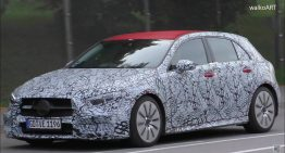 Mercedes-AMG A35 spied with red livery and double exhaust