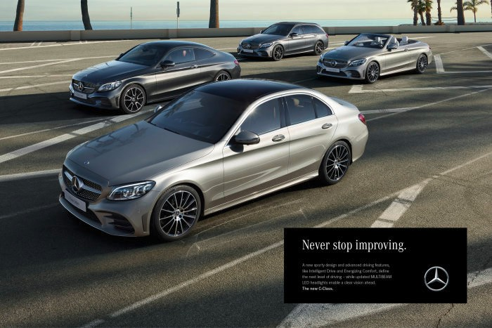 Roger Federer stars in the Mercedes-Benz C-Class campaign