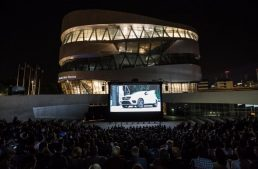 Open-air cinema at the Mercedes-Benz Museum