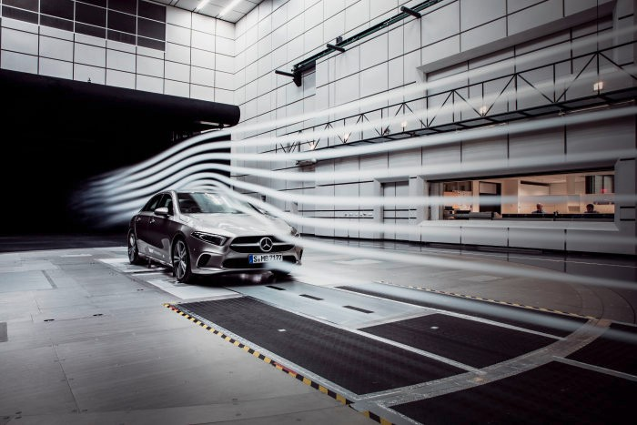 A stands for aerodynamics. The new A-Class Sedan defends world record