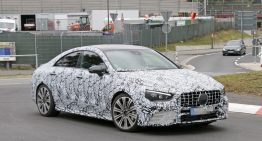 400 hp four-door coupe: 2019 Mercedes-AMG CLA 45 caught for the first time
