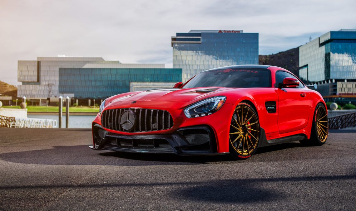 Mercedes-AMG GT S is red with tuning fury and glory
