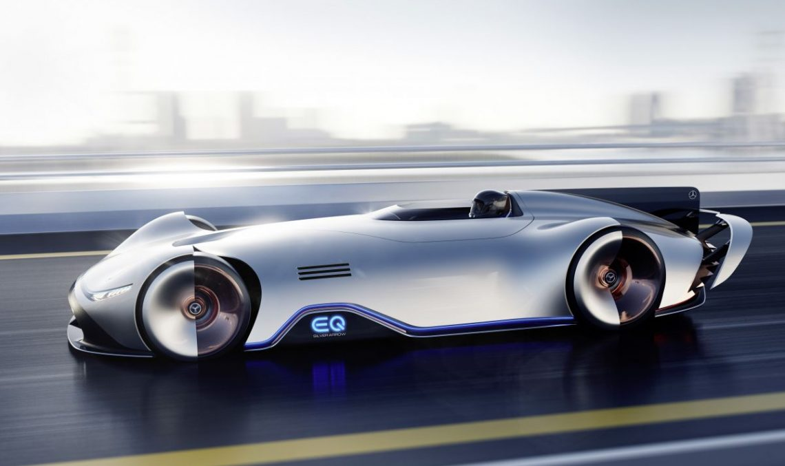 Official: Gorgeous Mercedes-Benz EQ Silver Arrow Concept debuts in Pebble Beach