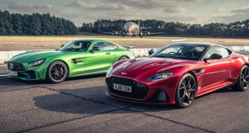 Mercedes-AMG GT R fights the new kid in town, the Aston Martin DBS Superleggera