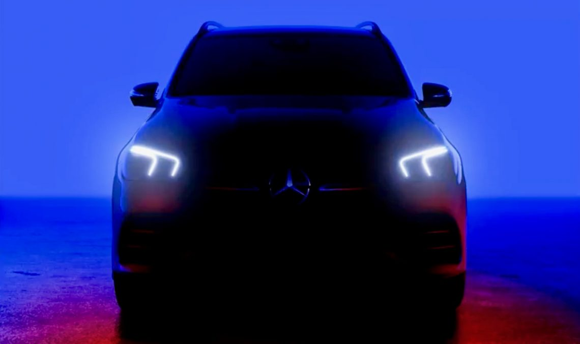 Future Mercedes-Benz GLE shows its face in video teaser ahead of debut