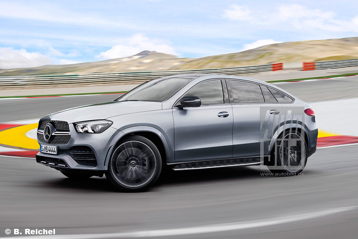 the future mercedes gle coupe by auto bild mercedesblog. Black Bedroom Furniture Sets. Home Design Ideas