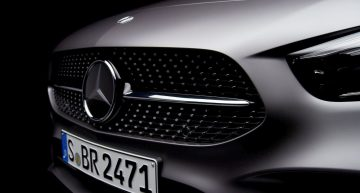 Future Mercedes-Benz B-Class teased ahead of Paris debut