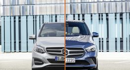 Mercedes B-Class: Old versus new generation first static comparison