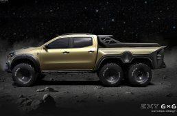 Monster! Carlex Design prepares the six-wheeled Mercedes-Benz X-Class