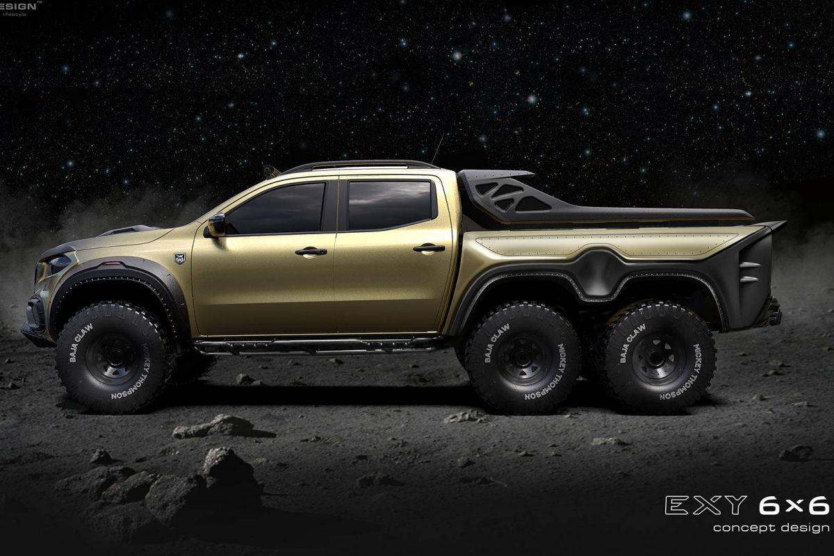 Monster! Carlex Design prepares the six-wheeled Mercedes