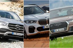 Luxury SUV static comparison: The new Mercedes GLE versus BMW X5 and Audi Q7