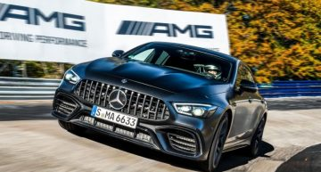Mercedes-AMG GT 4-Door Coupe is the fastest four-seat production car on the Nurburgring Nordschleife