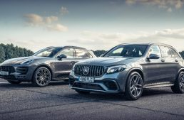 Mercedes-AMG GLC 63 S and Porsche Macan PP face to face in drag race
