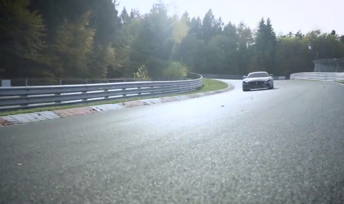 Mercedes-AMG GT R Pro hits the race track hours before debut