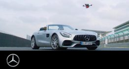 Mercedes-AMG GT Roadster races drone in crazy race