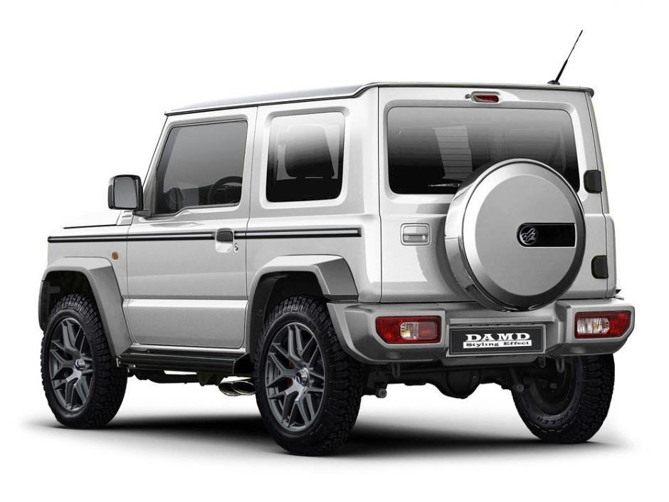 G Class Wannabe A Suzuki Jimny Is Ramped Up To Look Like A Mercedes