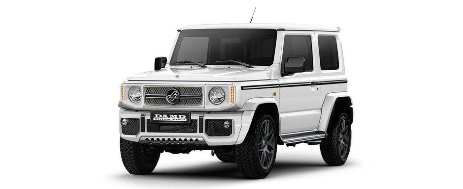 G-Class wannabe – A Suzuki Jimny is ramped up to look like a Mercedes