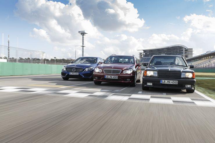 Three six-cylinder AMG flavors: Mercedes 190 E 3.2 AMG vs. C 32 AMG and C 43 AMG
