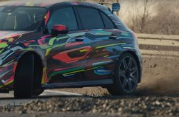 Teaser – The future Mercedes-AMG A45 hits the racetrack
