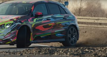 Teaser – The future Mercedes-AMG A45 hit the racetrack