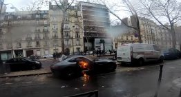 Mercedes-AMG GT destroyed in protests in Paris. How is the car guilty?