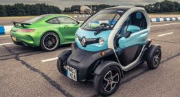 Craziest drag race. How did a Mercedes-AMG GT R got beaten by a Renault Twizy?
