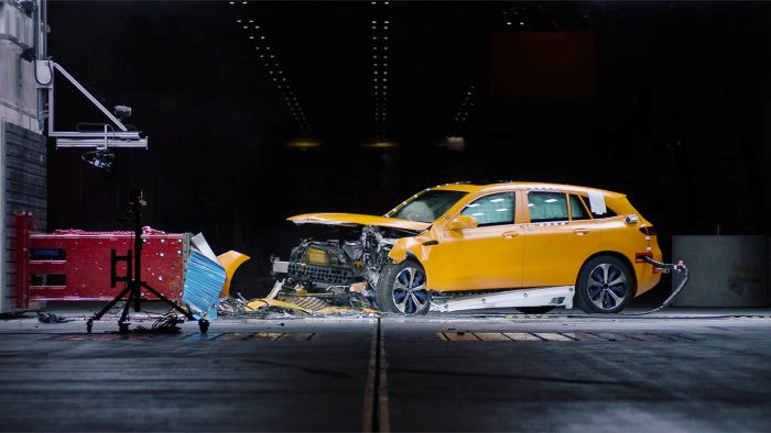 The new Mercedes-Benz EQC undergoes safety tests