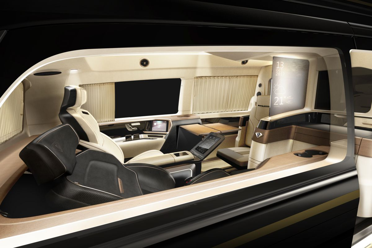 Ultimate Airport Shuttle Ultra Luxury Mercedes Benz V Class By Italdesign And Xingchi